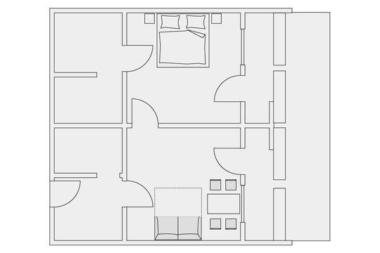 s d appartement 60 qm appartementhotel regina schl. Black Bedroom Furniture Sets. Home Design Ideas